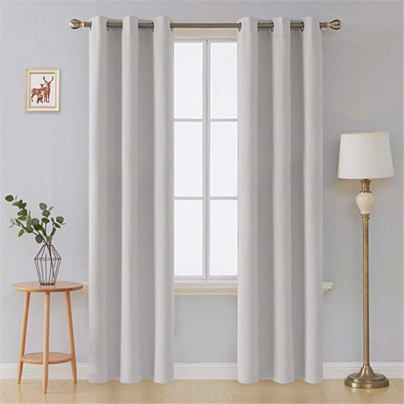 All of our black curtains are available in a. White Blackout Curtains For Living Room Bedroom Black Thick Thermal Insulated Window Curtain Treatment Shopee Malaysia