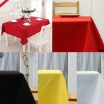 40 Inch Round Polyester Tablecloth Table Cover Cloth Banquet Wedding Party