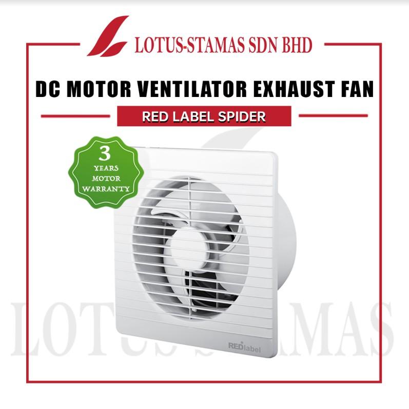 red label spider dc motor glass window wall mounted ventilator exhaust fan penang dealer kdk panasonic airegard tuma