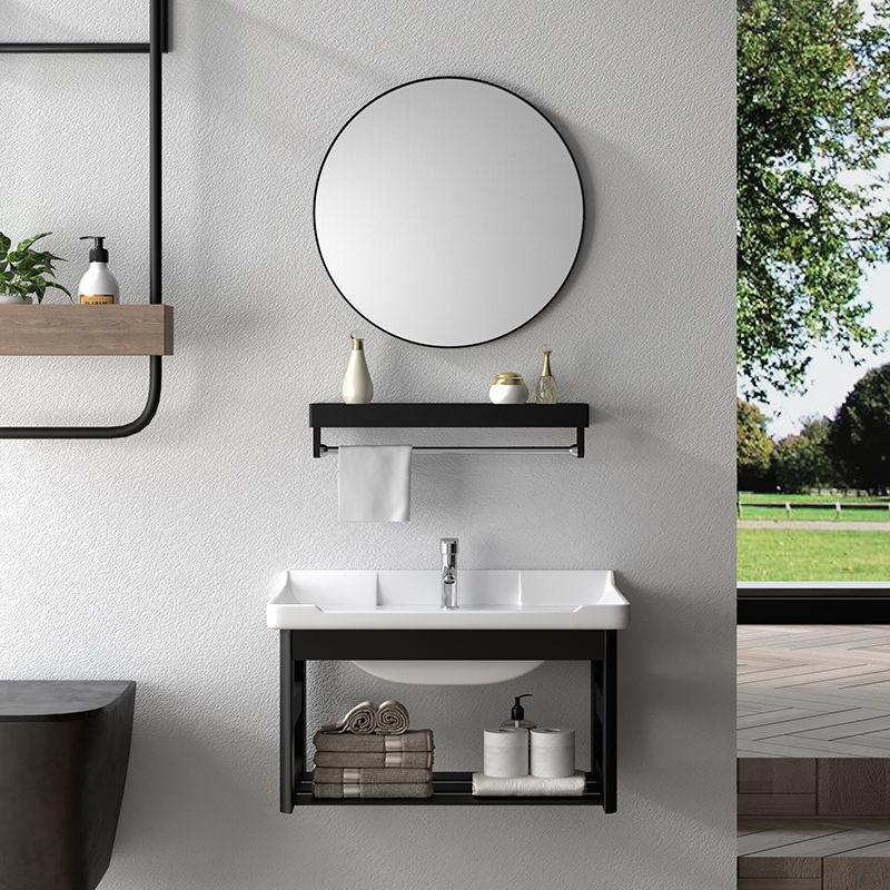 wall mounted small apartment modern minimalist bathroom sink cabinet combination sink vanity balcony bathroom cabinet