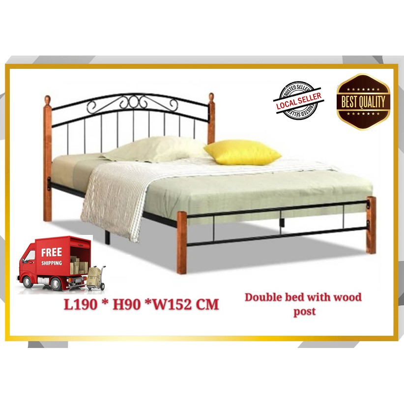 Get Double Bed Frame And Mattress Background