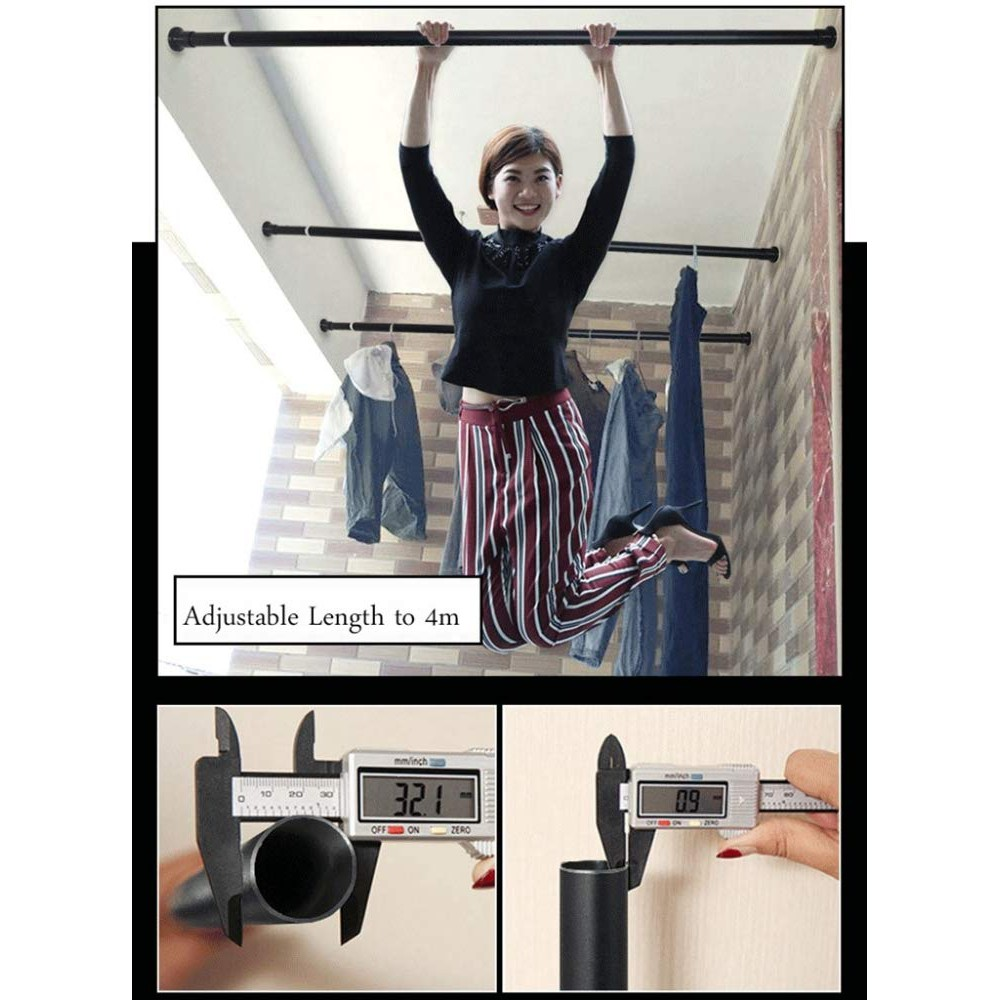 no drill curtain rod 70 cm 410 cm extra long tension curtain rod for large window shower room closets
