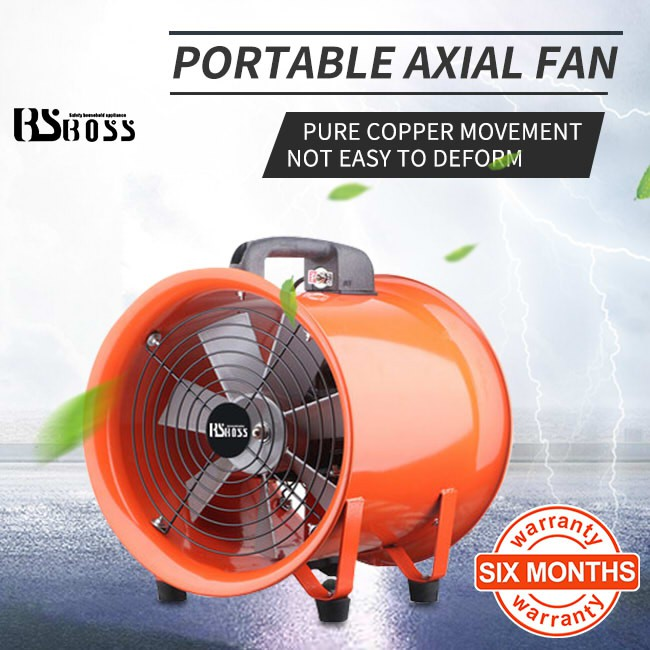 bsboss 12 inch mobile portable exhaust fan powerful industrial kitchen high power exhaust smoking fire ventilation pipe