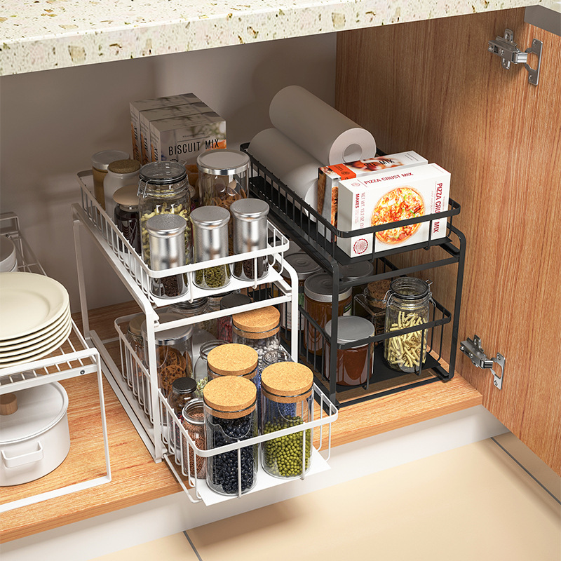 kitchen sink storage pull out storage rack cabinet shelf cabinet storage rack under sink storage shelf