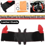 Diy Steering Wheel Cover Black Suede Hand Sewing For Ford Mustang Ford Gt Rainbowlands Lk
