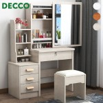 Decco Modern Vanity Dressing Table Bedroom Makeup Table Storage Cabinet Dressing Table With Padded Chair 818 Shopee Malaysia