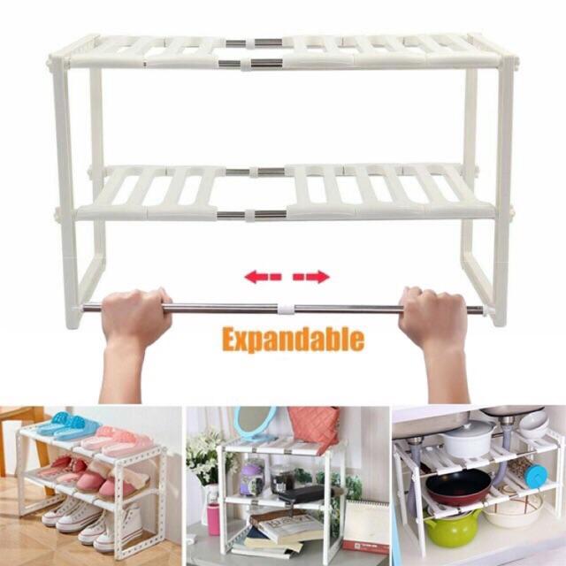 expandable under sink organizer rack