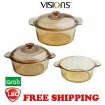 On Hand Brand New Visions Glass Cookware Set Casserole Dutch Oven X Corelle Pyrex Corningware Shopee Philippines