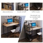 Computer Table Desktop Home Office Use Large Desk Study Table With Book Shelf Shopee Philippines