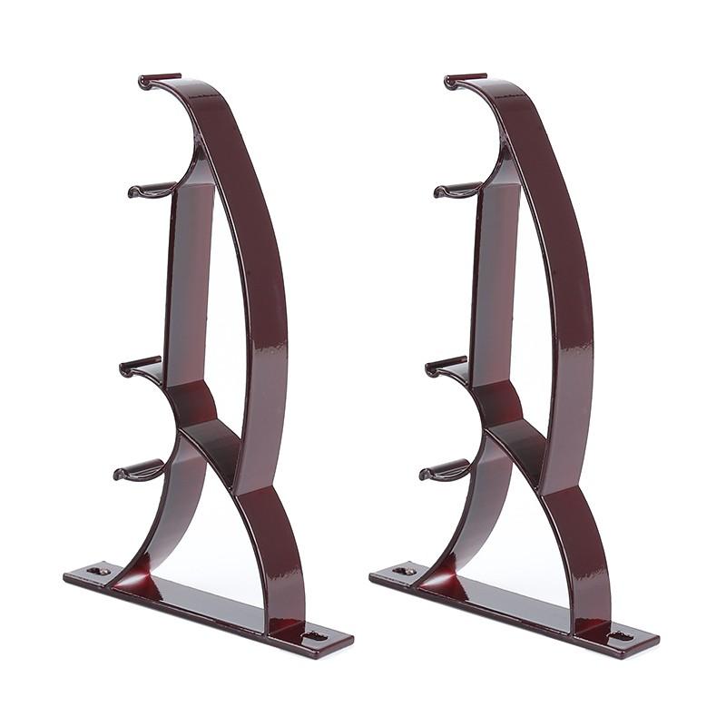 double rod holder curtain pole bracket