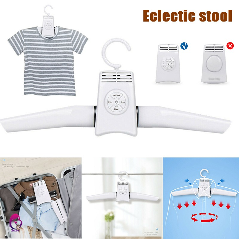 sdjh portable electric clothes drying rack folding dryer hanger for travel laundry shoes home