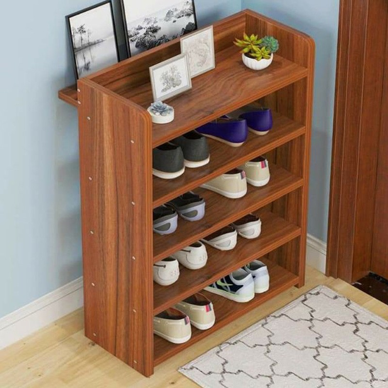 5 layer wooden shoe cabinet shoe rack organizer for kids size shoes