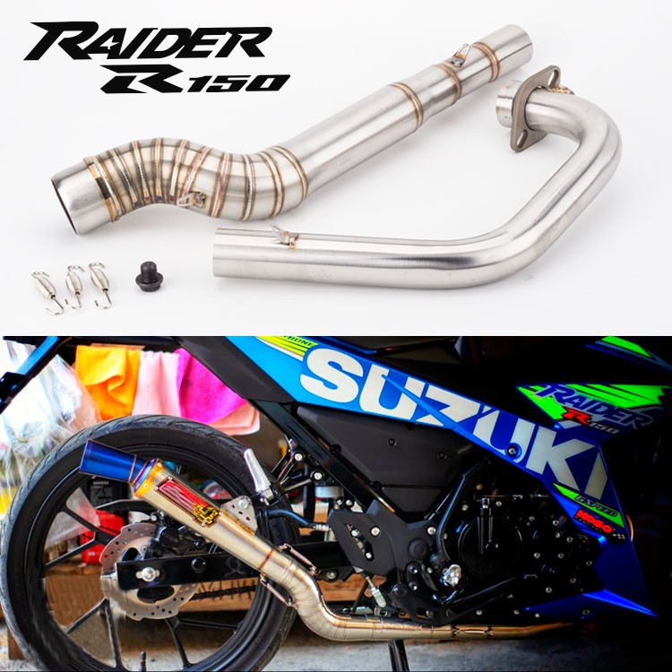 motorcycle modified exhaust pipe raider 150 front section r150 exhaust pipe nlk muffler pipe