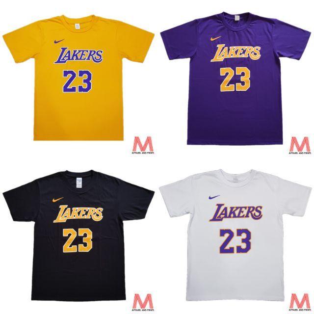 Purple Los Angeles Lakers T Shirt . Los Angeles Lakers Lebron James 23 Nba T Shirt Shopee Philippines