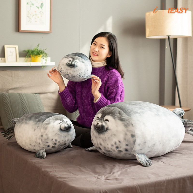 chubby seal pillow stuffed cotton plush animal toy seal pillow soft fat pillow stuffed cotton animal seal plush toy