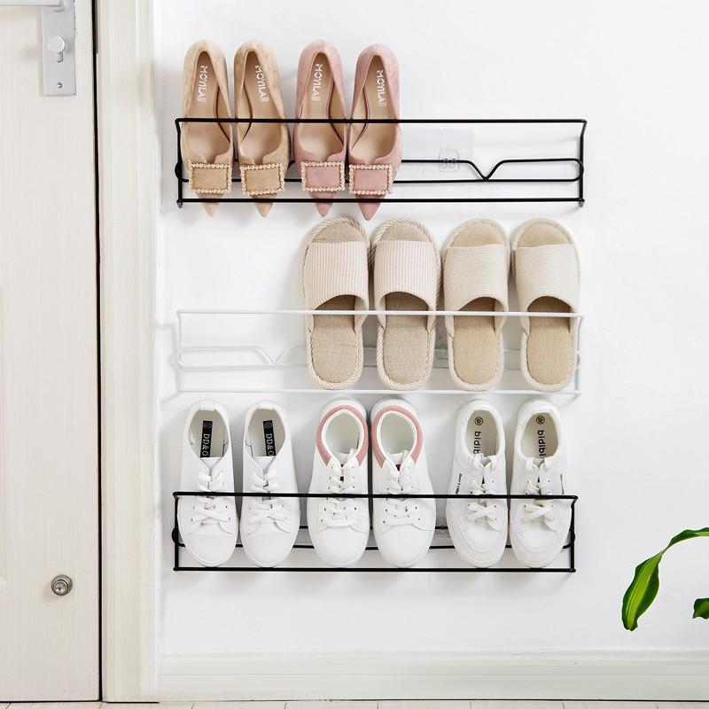 simple door wall hanging shoe rack hanging home hook iron shoes