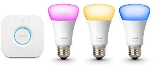 philips hue white and color personal wireless lighting starter pack 1st gen pre owned