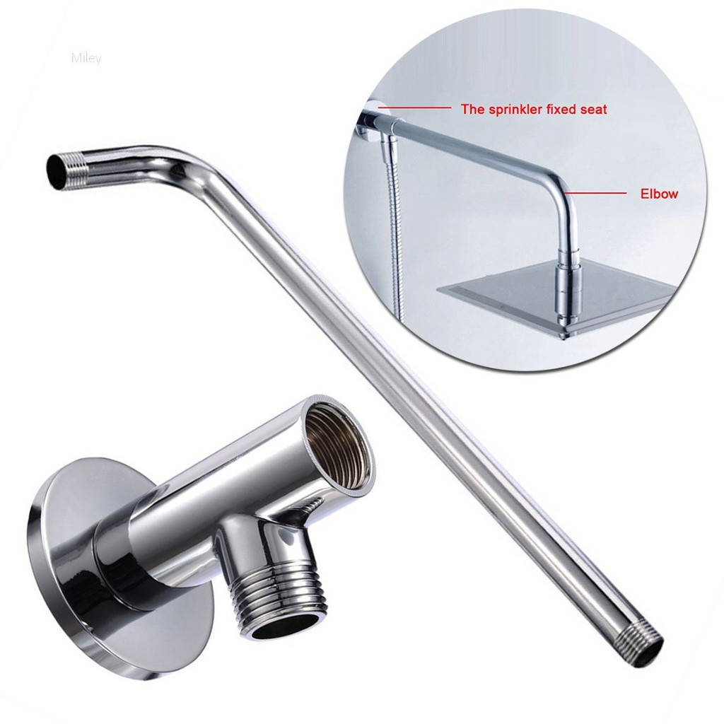Miley Wall Mounted Solid Brasshome Bathroom Rain Shower Head Extension Arm Pipe Firm