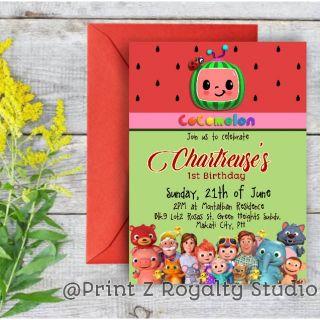 customized cocomelon invitation card free layout