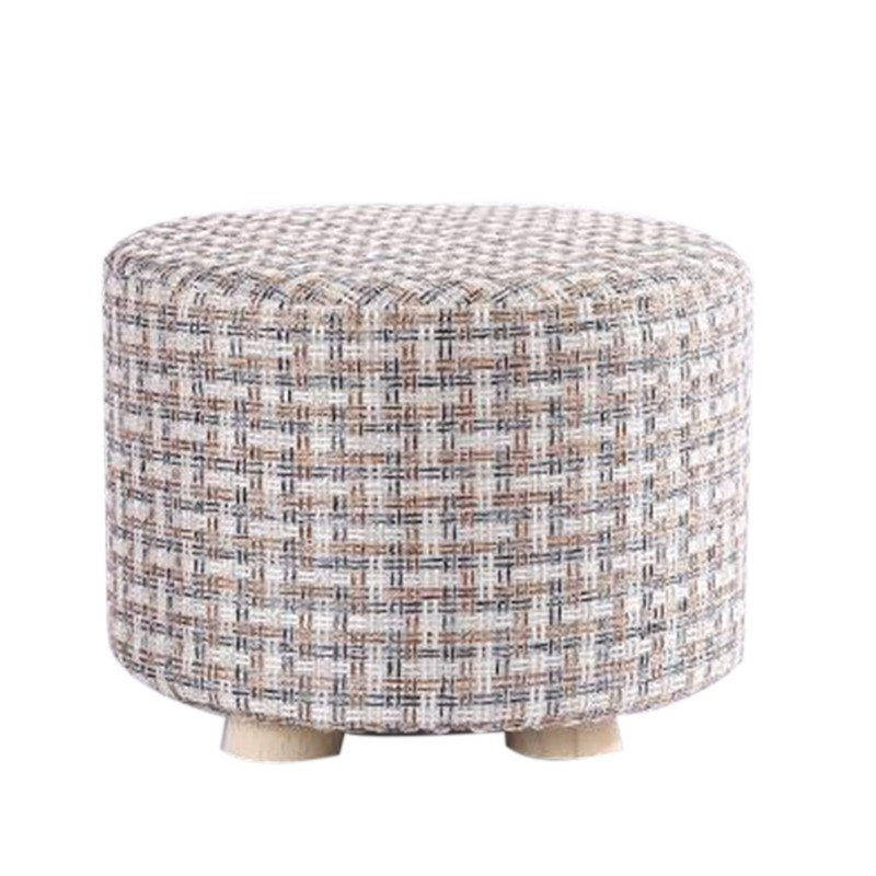 small stool wooden ottomans with linen cotton cover dini