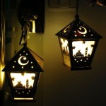 Diy Wooden House With Led Light Pendant Eid Mubarak Ramadan Decoration Shopee Philippines
