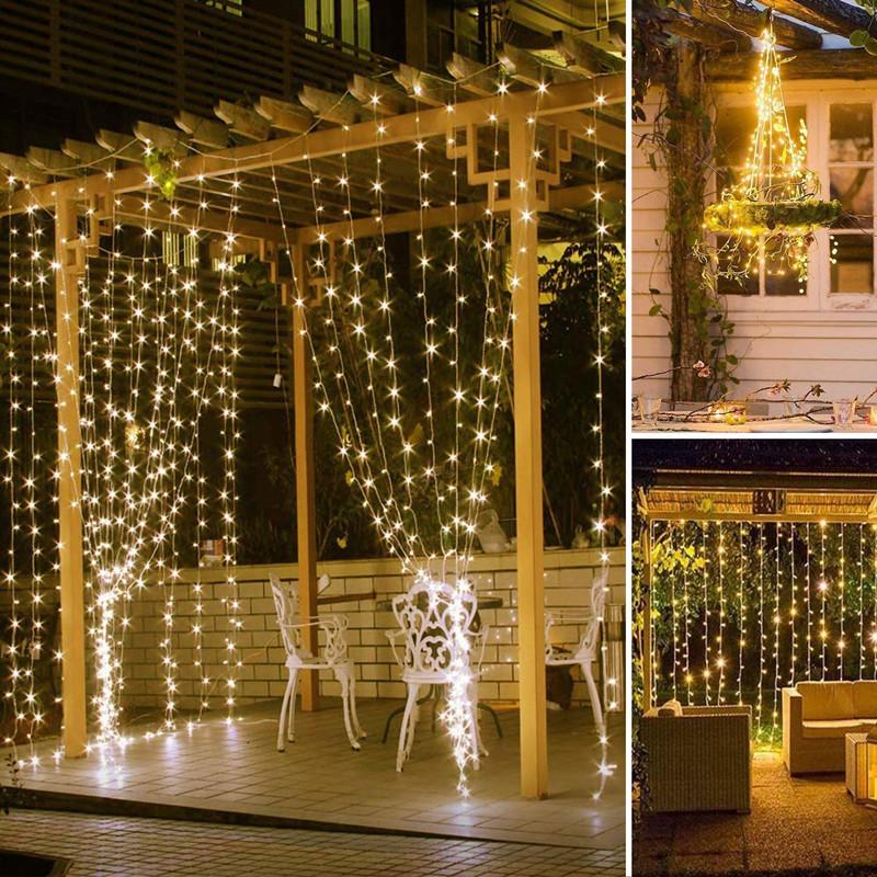 window curtain lights led string lights icicle fairy lights christmas lights new year party wedding home garden bar ramadan lighting cny decoratio