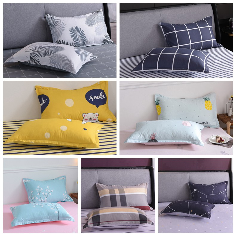 1 pc pillowcase home bed rectangle pillow cover fashionable and simple style comfortable and multi design pillowcase 18 28 inch