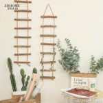 Home Wood Ladder Lanyard Wall Decor Shopee Philippines