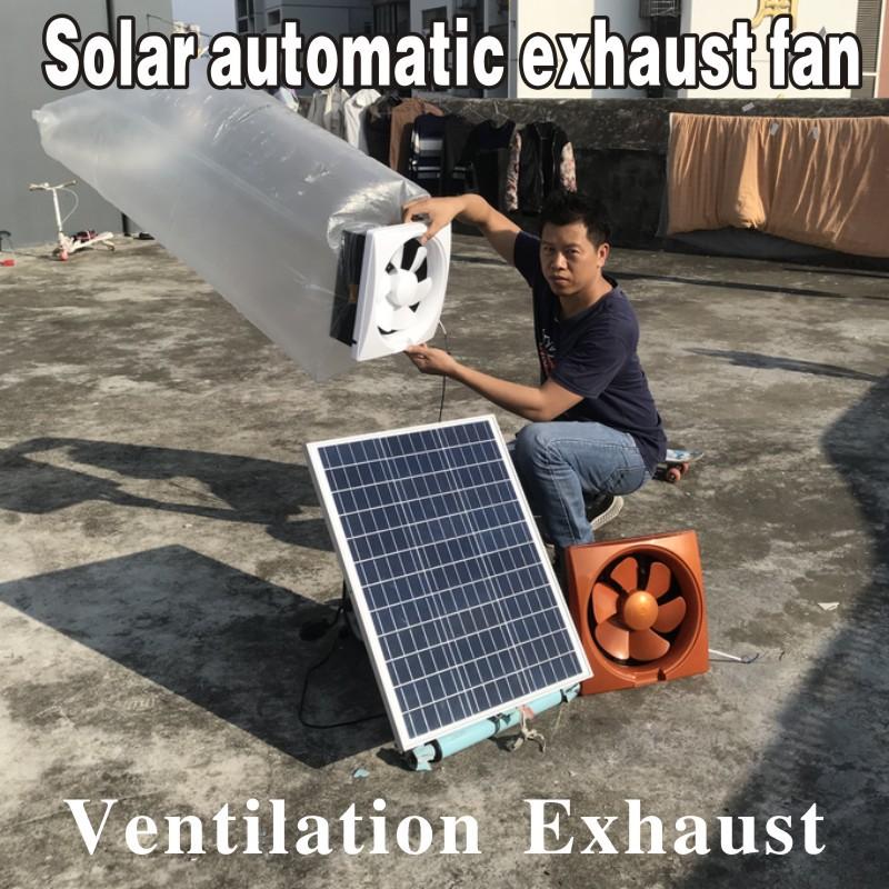 household square ventilation 5v solar energy exhaust fan kitchen powerful ventilator quiet exhaust fan toilet suction fan ventilation ventilator range