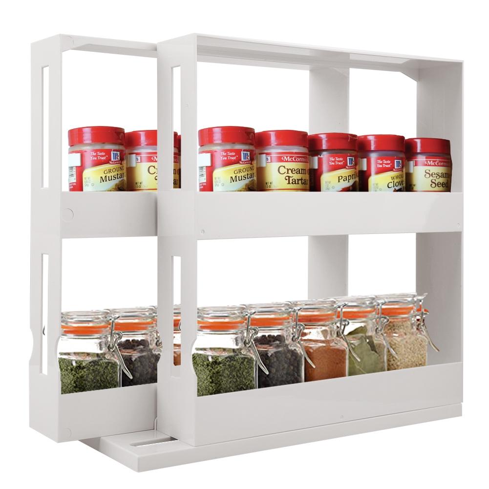 multifunctional rotating spice rack organizer kitchen cabinet cupboard organizer swivel rack storage shelf