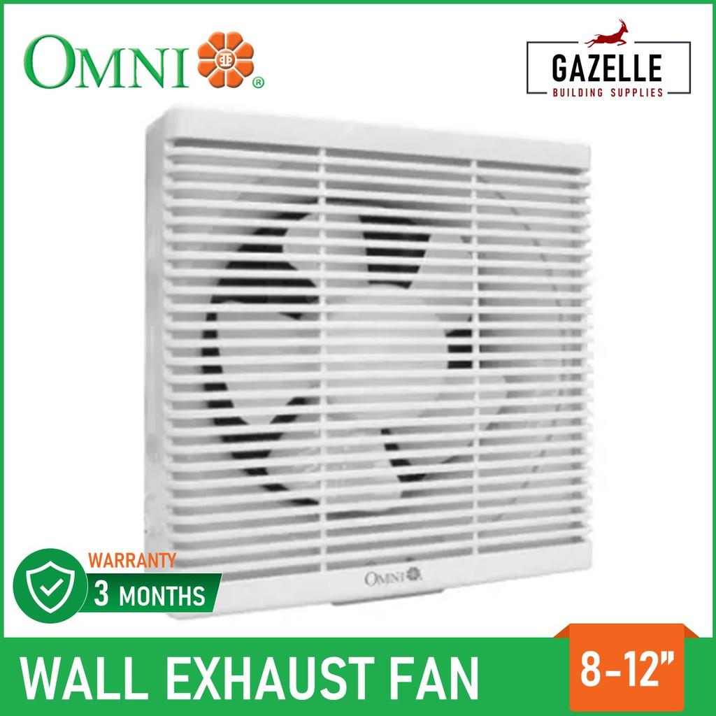 omni wall mounted exhaust fan 8 10 12 xfw 200 xfw 250 xfw 300