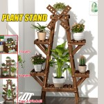 2 4 Layers Wooden Plant Stand In Outdoor Garden Planter Flower Pot Stand Shopee Philippines