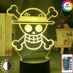 Anime One Piece Logo Kids Night Light Led Touch Sensor Colorful Nightlight For Child Bedroom Decoration Cool Desk 3d Lamp Gift Shopee Philippines