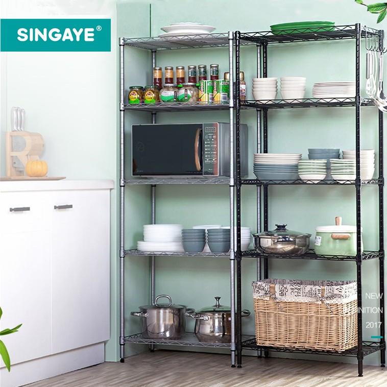 singaye kitchen shelf storage kitchen rack organizer shelf high carbon steel 5 mesh layers