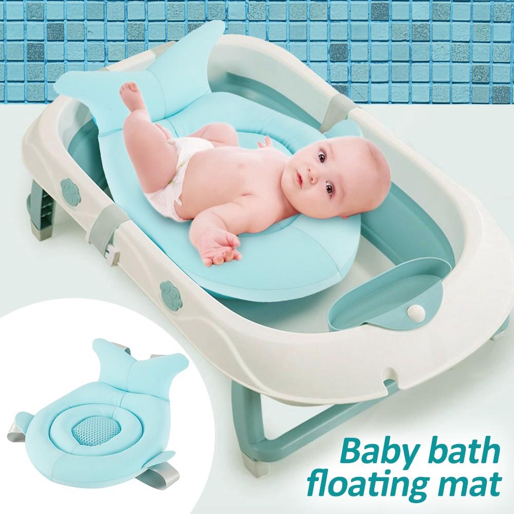 baby bath tub pillow floating anti slip bath cushion soft seat bathtub support for 0 6 months bathroom shower