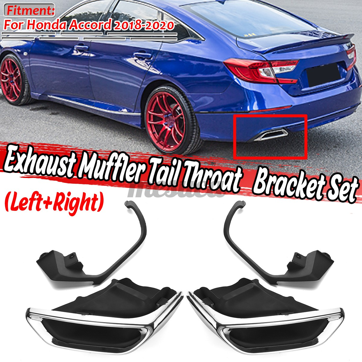 exhaust muffler tail pipe tip tailpipe modified upgrade for honda accord 2018 20 mesuca
