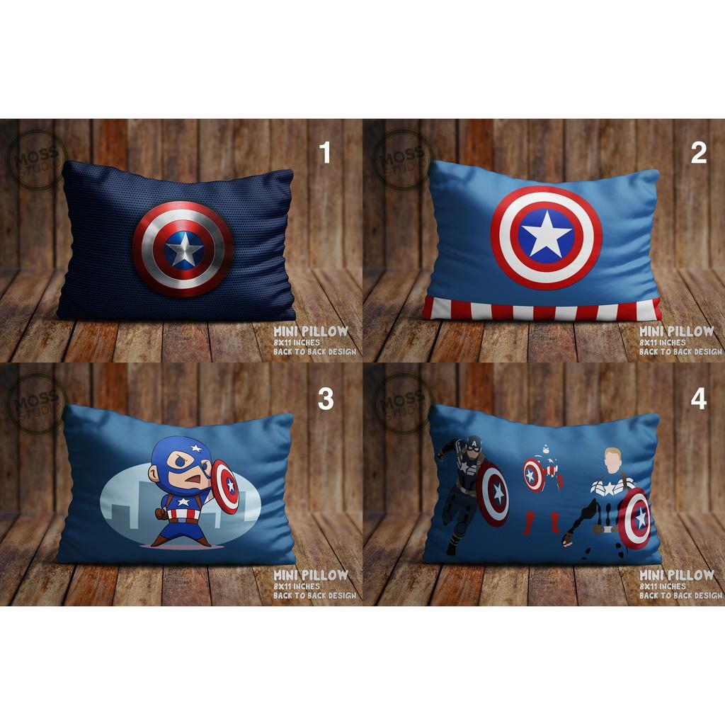 captain america mini pillow 2 sizes