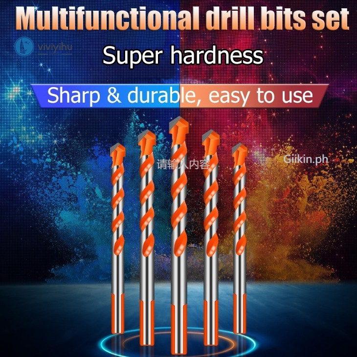 multifunctional drill bits set marble tile ceramic wall hole drilling king bit alloy triangle drill bit