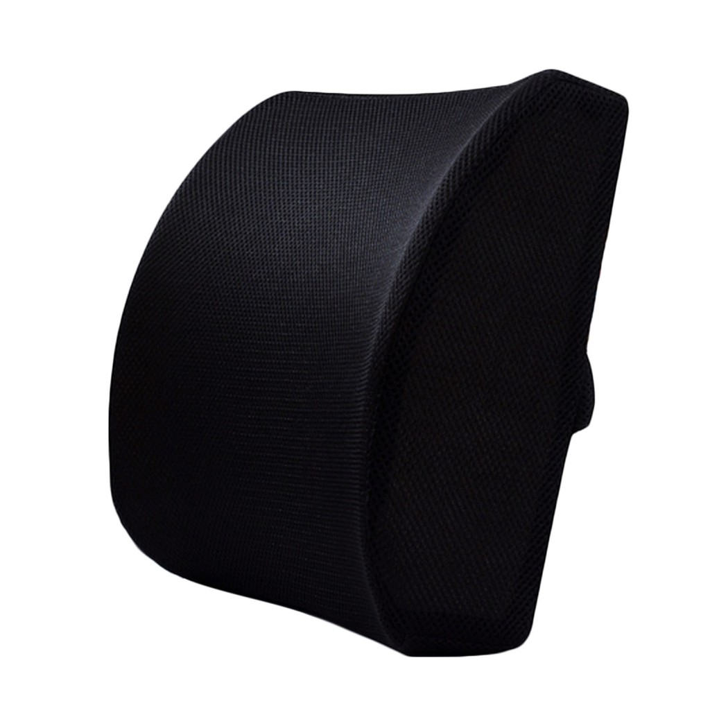 memory foam office chair car sofa seat back cushion lumbar support pillow with dual adjustable
