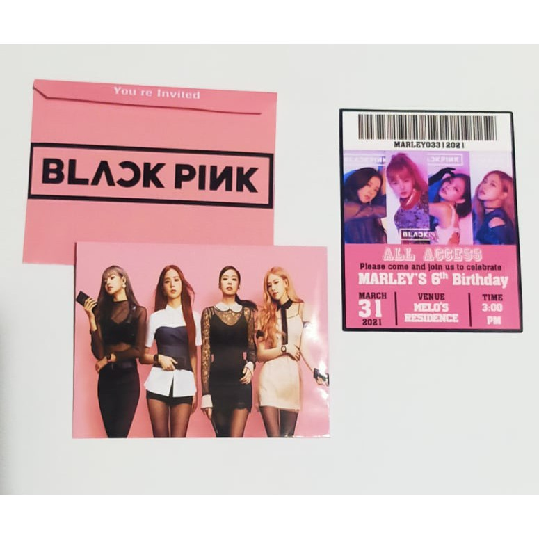 blackpink invitation w envelope