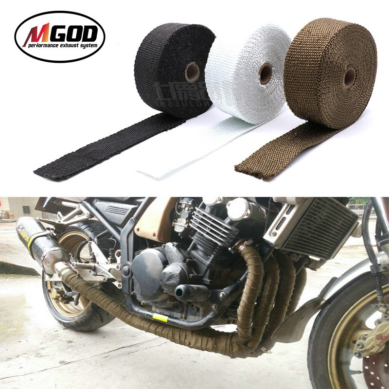5m free shipping motorcycle exhaust pipe thermal akrapovic tape header heat wrap resistant downpipe escape moto car accessories for cb400 cbr125