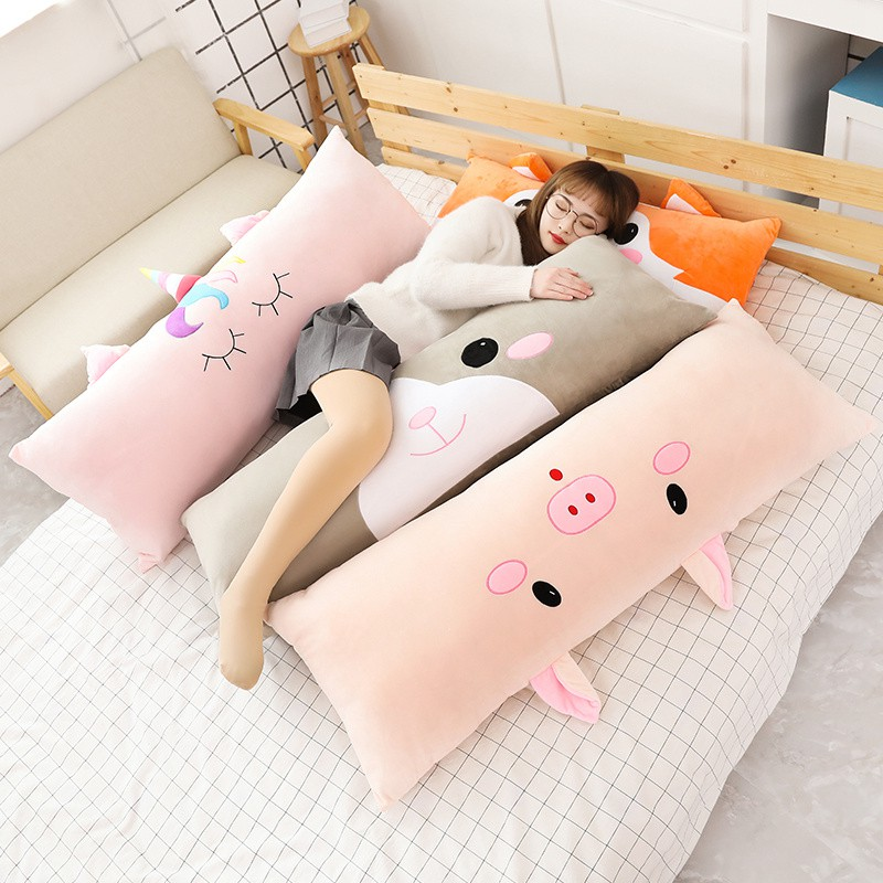 cartoon pillow long pillow cute bed big cushion sleep dormitory student bedside cushion double single pillow