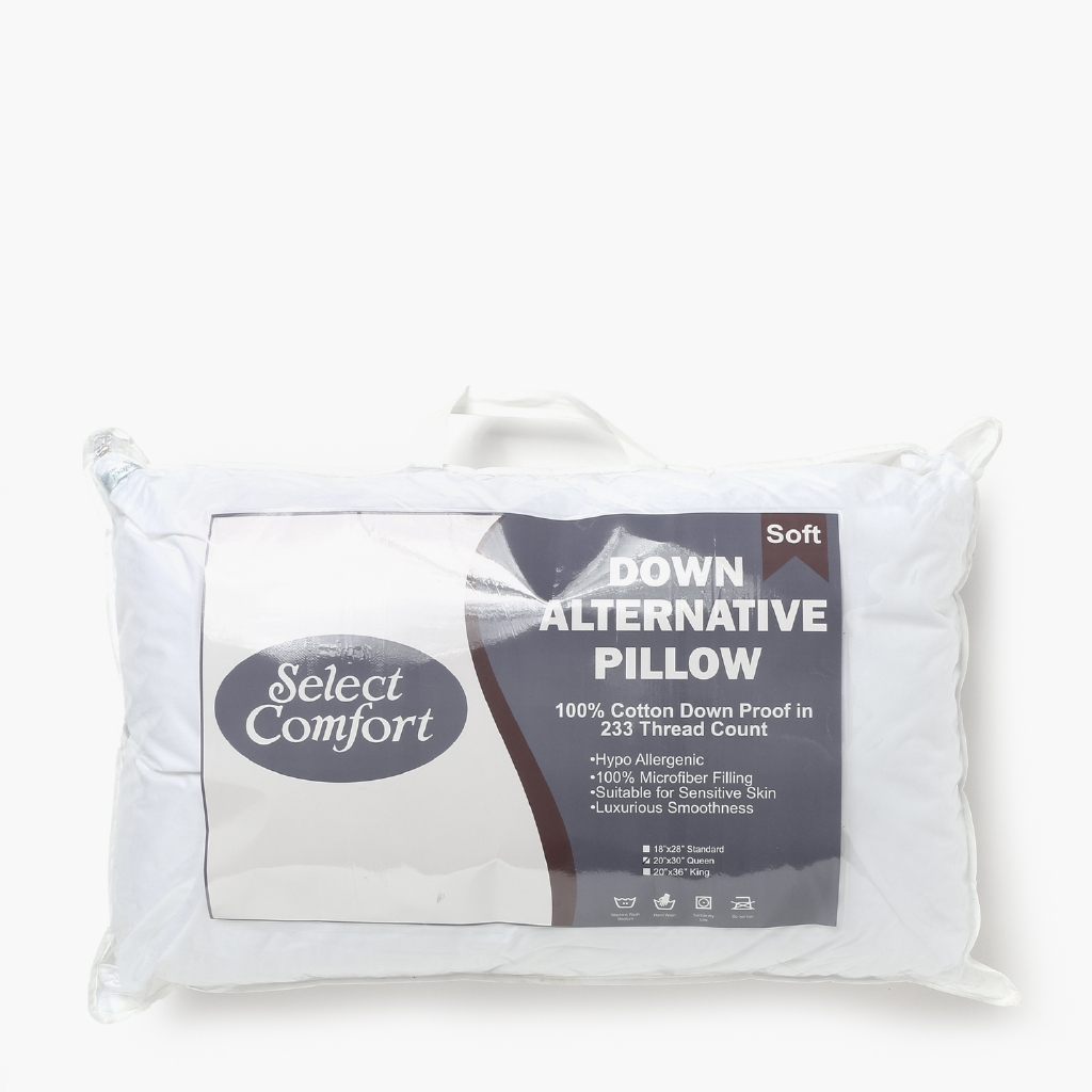 select comfort down alternative pillow 20x30in