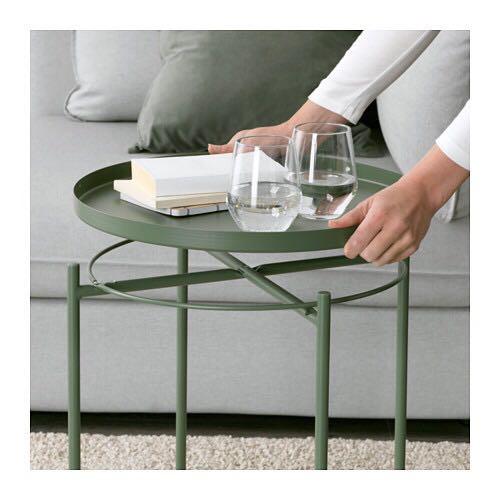 Side Coffee Metal Tray TableGladom Copy Moss Green