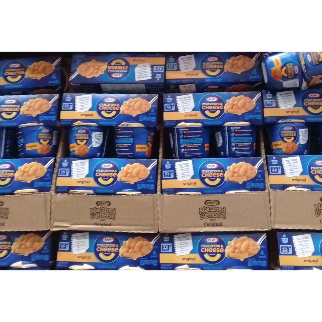 kraft microwavable macaroni and cheese original 4 pack