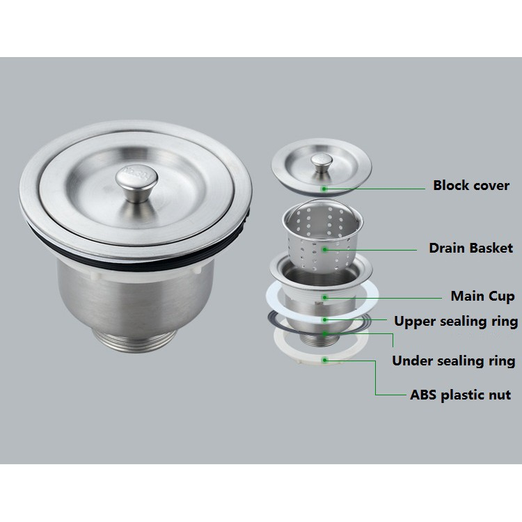 manzan stainless steel sink drain assembly waste strainer and basket strainer stopper waste plug sin