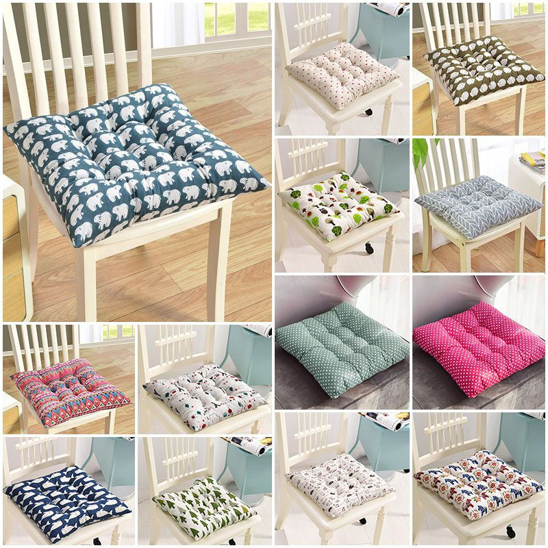 removable square chair seat pad outdoor waterproof seat cushion cover tie on garden patio chair