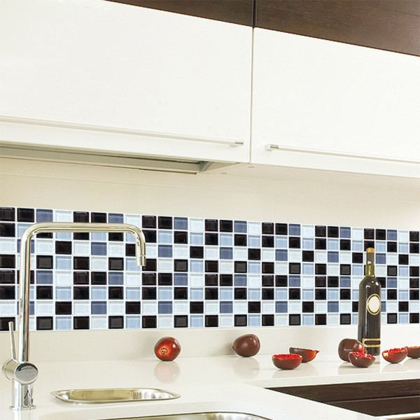 6pcs self adhesive mosaic tile floor