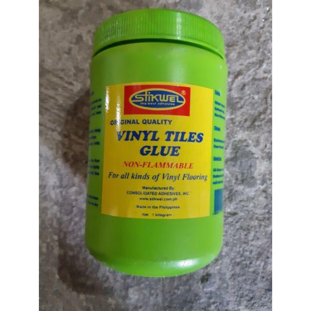 vinyl tiles glue stikwel 1 liter