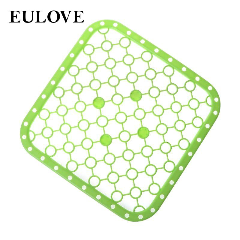 eulove sink mats square quick draining for kitchen sink protector silicone soft cool